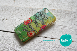 "iphone 5 hardcase 3D.  limited edition ontwerp ""don't put off your happy life"" door Revlie"