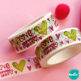 Love Grows washi tape 15 mm - Pinkie