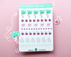 AANBIEDING 4 stickersheets voor maar 10 euro!