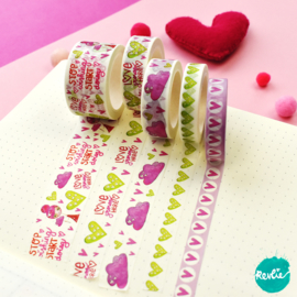 Set Pinkie washi tapes 10, 15 en 25 mm - Pinkie