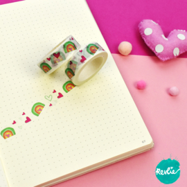 Rainbow washi tape 15 mm - Millie