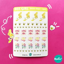 Stickersheet Bee Girl 002