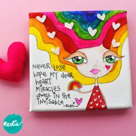 Rocky Rainbow Girl op een canvasje tekenen, online cursus