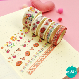 Set Billie washi tapes 10, 15 en 25 mm - Billie