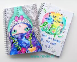 """Art Journal """"Gillie Galaxy Girl"""""""
