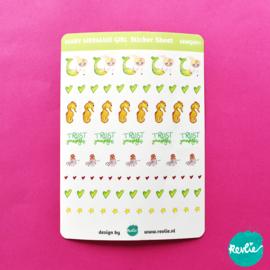 Stickersheet Mary Mermaild Girl 001