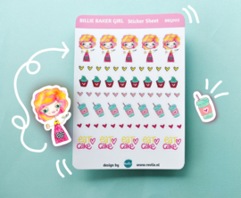 Stickersheet Billie Baker Girl 002