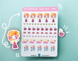 Stickersheet Billie Baker Girl 001
