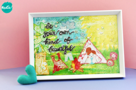 "NIEUW: Poster - Print A4 21 x 29,7 cm ""Be Your Own Kind of Beautiful"", unieke home decor"