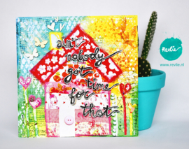 "mixed media ansichtkaarten REVitup Set ""HAPPY"", 5 stuks"