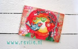 Uniek notitieboekje MAGIC met geheime berichtjes van mij & gratis twee REVitup ansichtkaarten