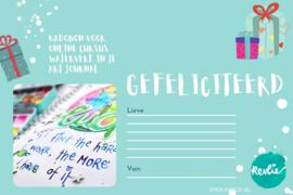 KADOBON voor TIJDELIJK MAAR € 18,- Waterverf in je Art Journal online workshop