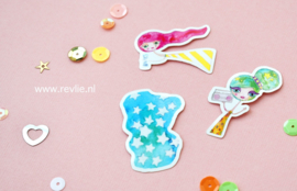 Stickerset GLITTER