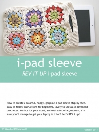 Haakpatroon Granny Square i-pad sleeve pdf tutorial - REV IT UP