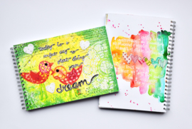 """Art Journal Revlie """"today is a perfect day to start living your dream"""""""