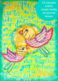 "short Online Lesson ""handwriting as a background in your art journal"" - in English"