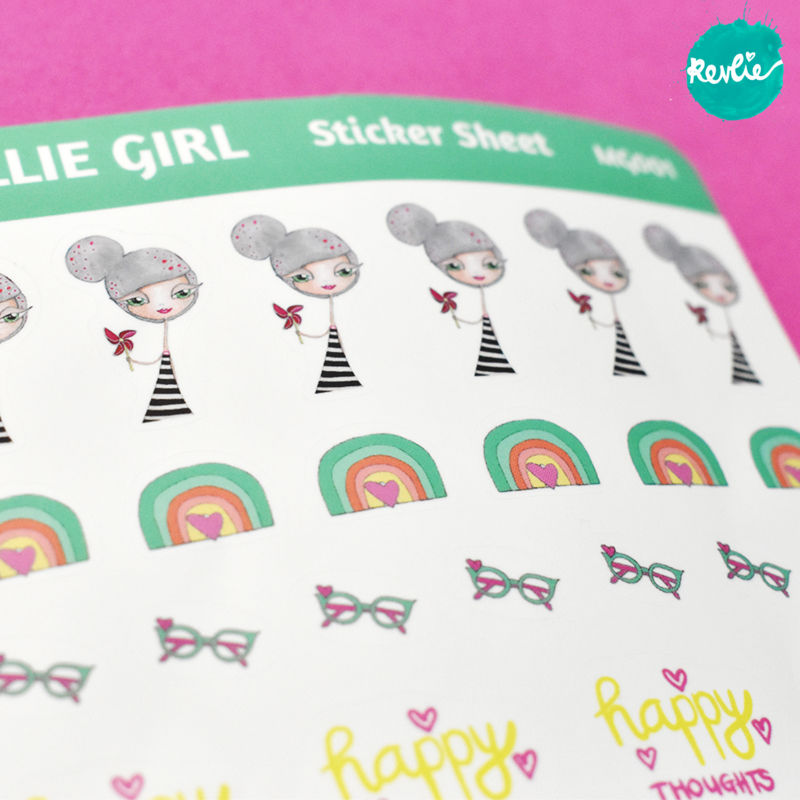 Stickersheet Millie Girl 001