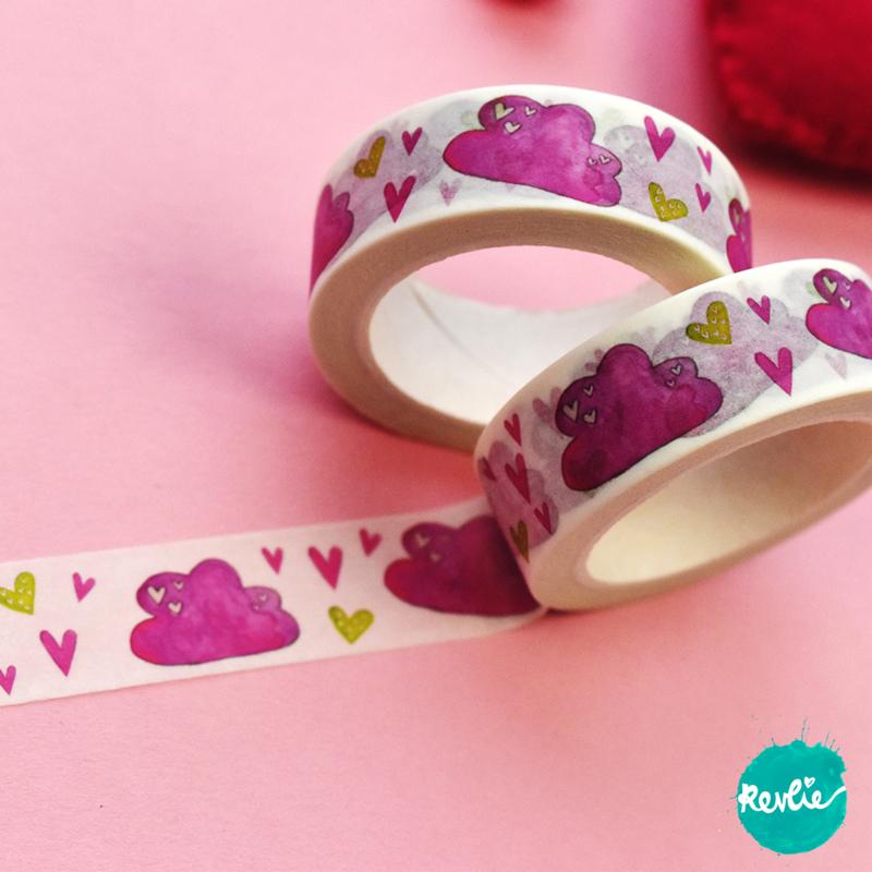 Pink Cloud washi tape 15 mm - Pinkie