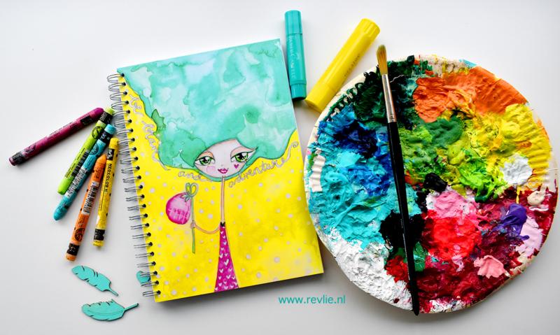 """Art Journal Revlie """"Adventure Girl"""""""