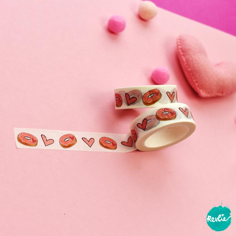 Donut washi tape 15 mm - Billie