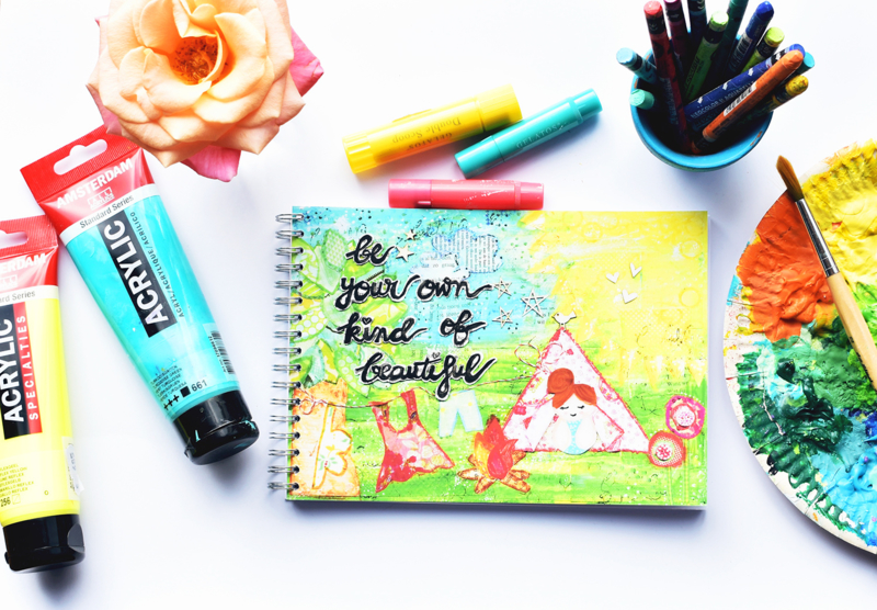 "Art Journal Revlie ""be your own kind of beautiful"""