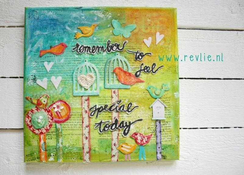 Online class: Hoe maak je een mooie mixed media canvas - REV IT UP in Engels en Nederlands