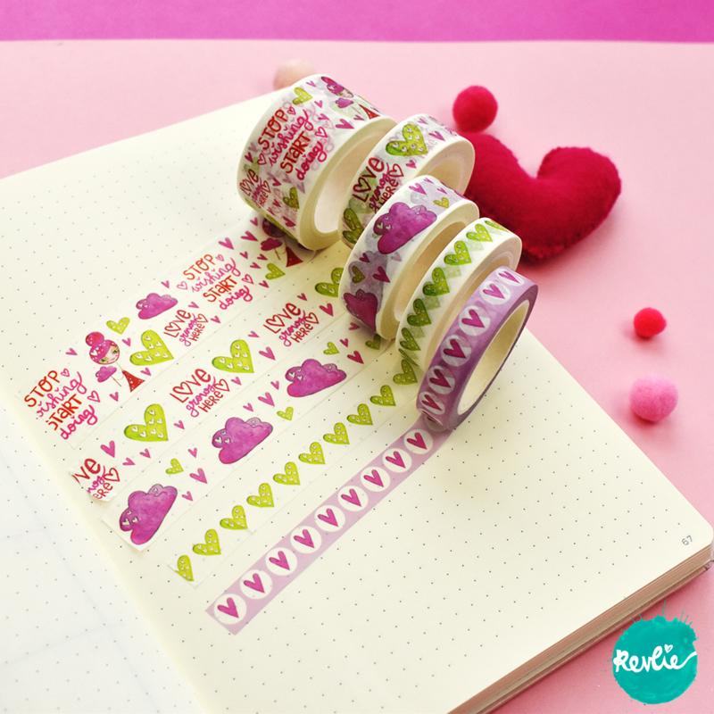 Set Pinkie washi tapes 10, 15 en 25 mm - Pinkie
