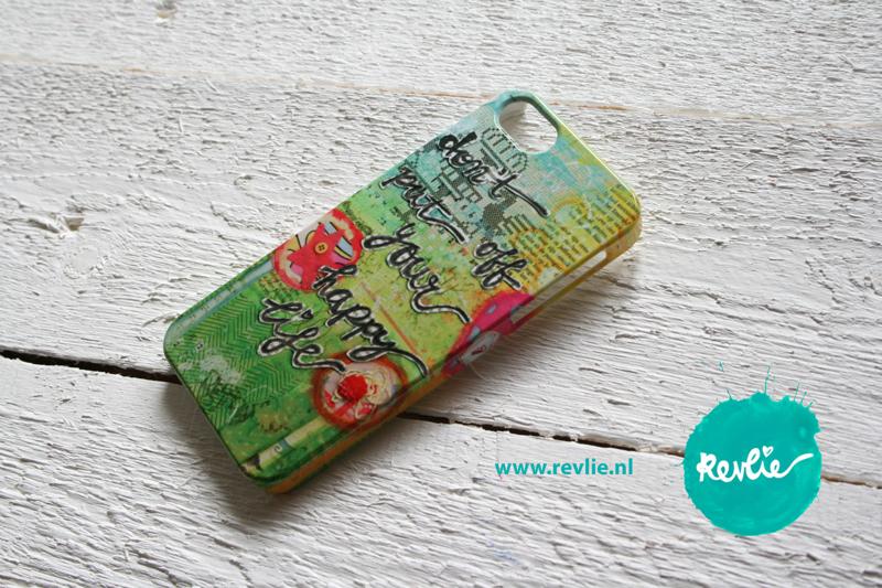"iphone 5 hardcase 3D.  limited edition ontwerp ""don't put off your happy life"" door Revlie"
