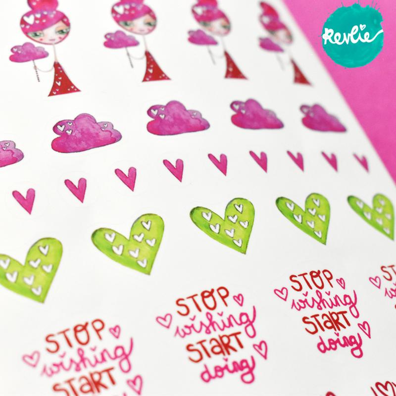 Stickersheet Pinkie Pink Girl 001
