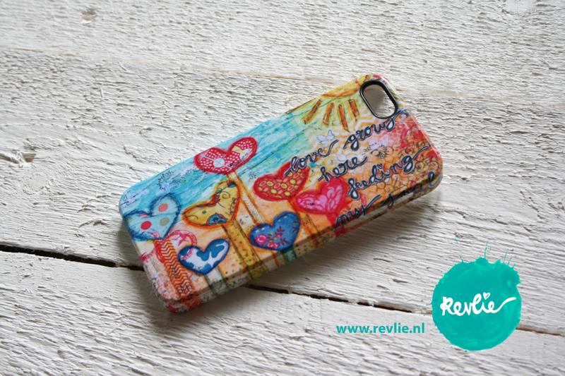 "iphone 5 hardcase 3D.  limited edition ontwerp ""love grows here"" door Revlie"