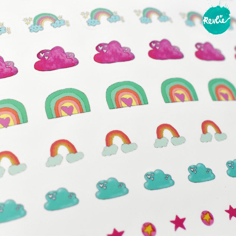 Stickersheet Rainbows & Clouds RC001