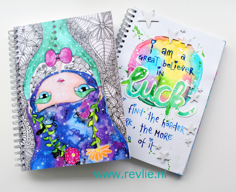 "Art Journal ""Gillie Galaxy Girl"""