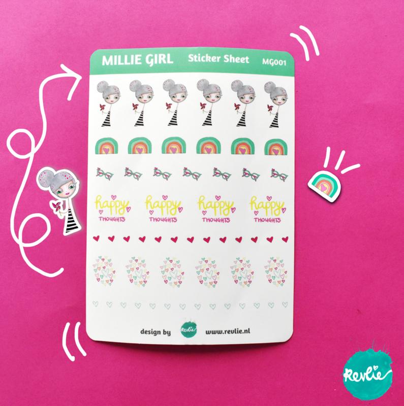 Stickersheet Millie Girl 001
