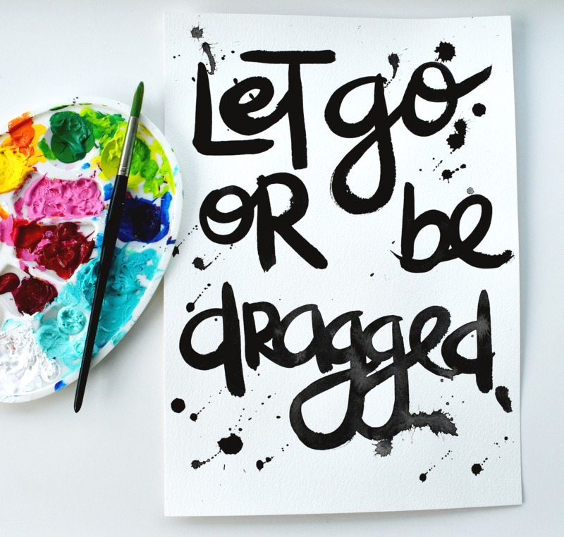LET GO OR BE DRAGGED - origineel script.