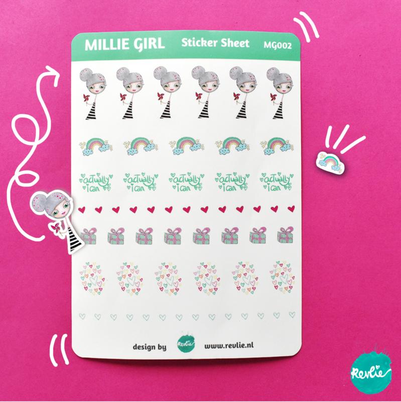 Stickersheet Millie Girl 002