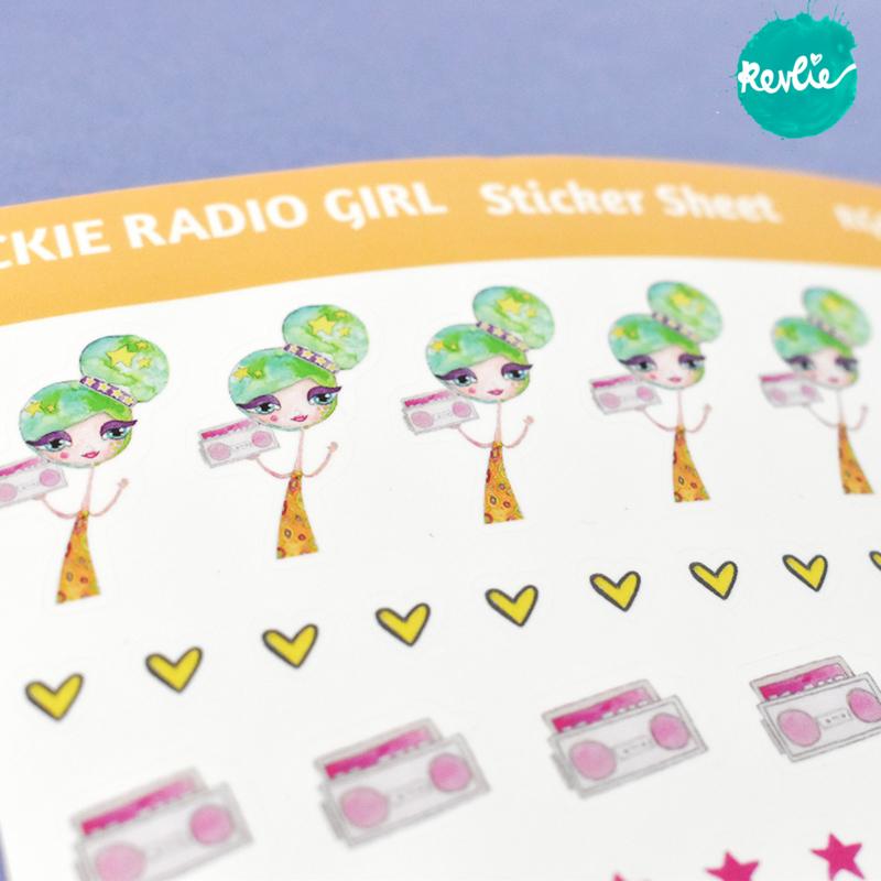 Stickersheet Rickie Radio Girl 001