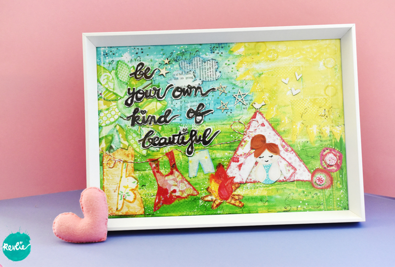 """NIEUW: Poster - Print A4 21 x 29,7 cm """"Be Your Own Kind of Beautiful"""", unieke home decor"""