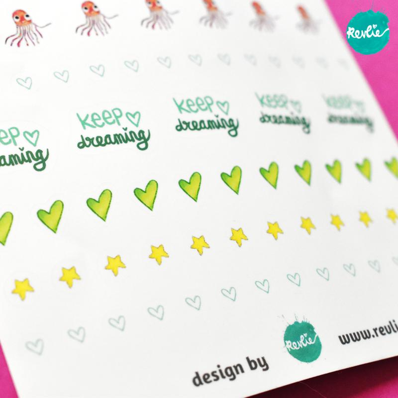 Stickersheet Mary Mermaild Girl 002