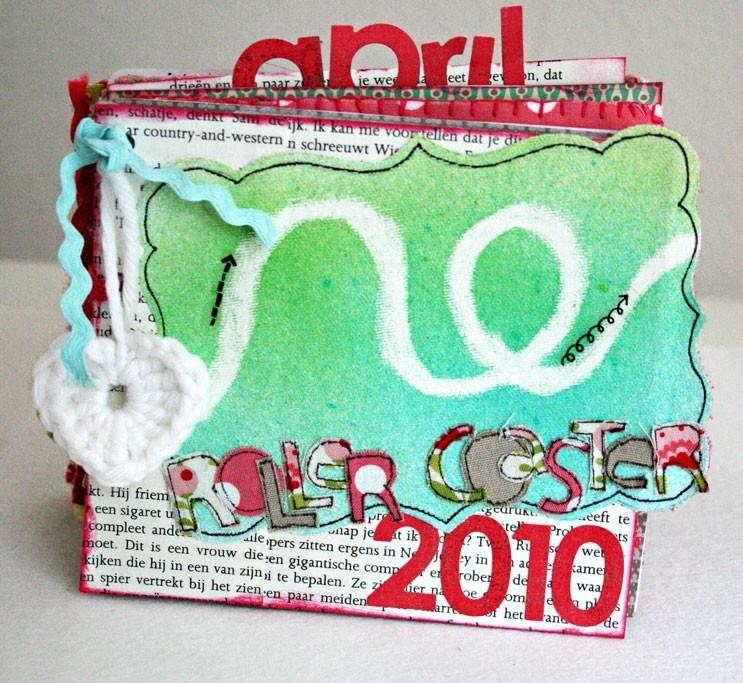 PDF tutorial voor mini album Roller Coaster 2010