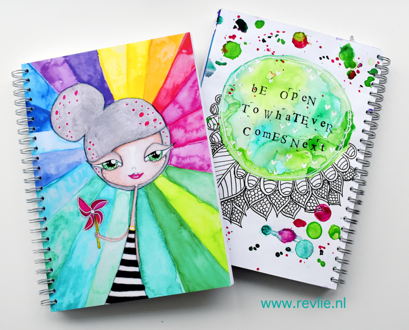 "Art Journal Revlie ""Rainbow Girl"""
