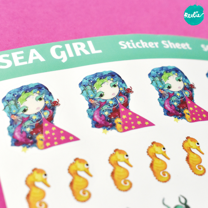 Stickersheet Sillie Sea Girl 001
