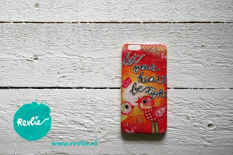 "iphone 6 hardcase 3D.  limited edition ontwerp ""let your heart be light"" door Revlie"