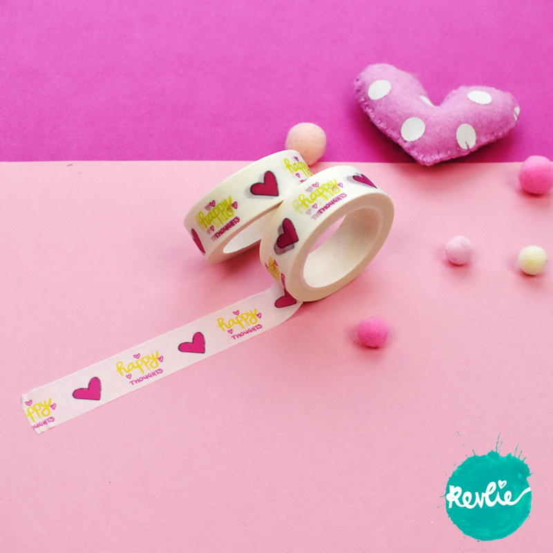 Happy Thoughts washi tape 15 mm - Millie