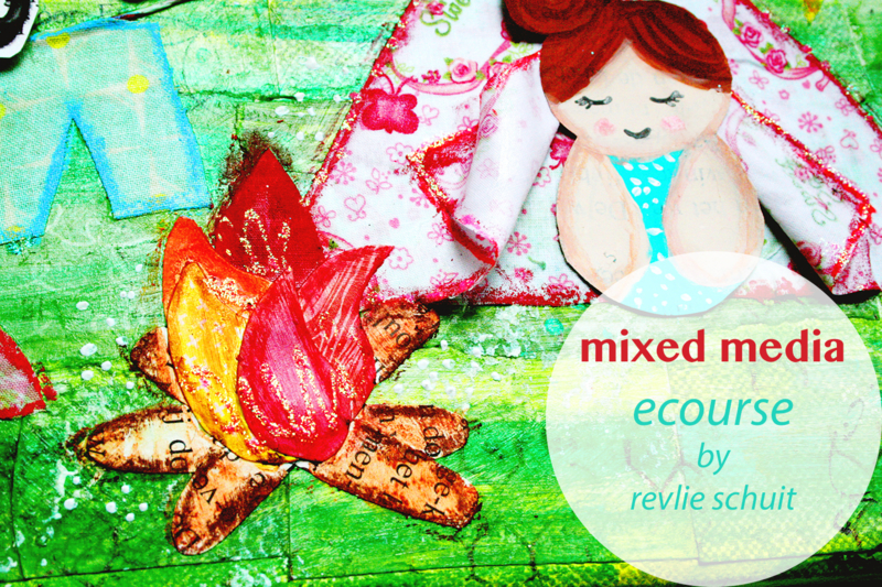 Online class: how to create magic mixed media canvasses (in English)