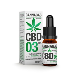 CBD olie - 10 ml - 2,5%