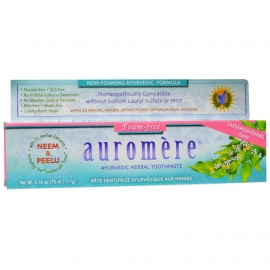 Ayurvedic Herbal Toothpaste, Foam-Free, Mint -Free, Cardamom-Fennel Flavor