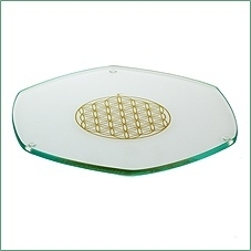 ZEN-Energy Plate Levensbloem Goud  Ø 22 cm