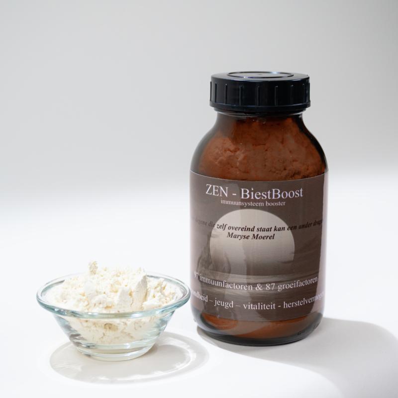 ZEN - BiestBoost - normale pot met 200 gram poeder - 97 immuumfactoren en 87 groeifactoren!