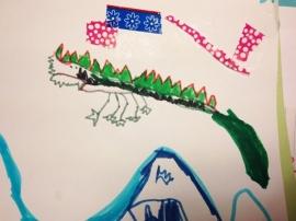Knuffel van tekening: Kroko Olly