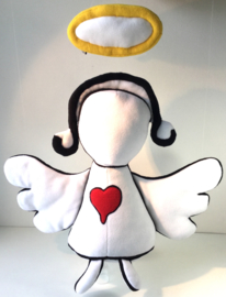 knuffel van tekening: lief engel
